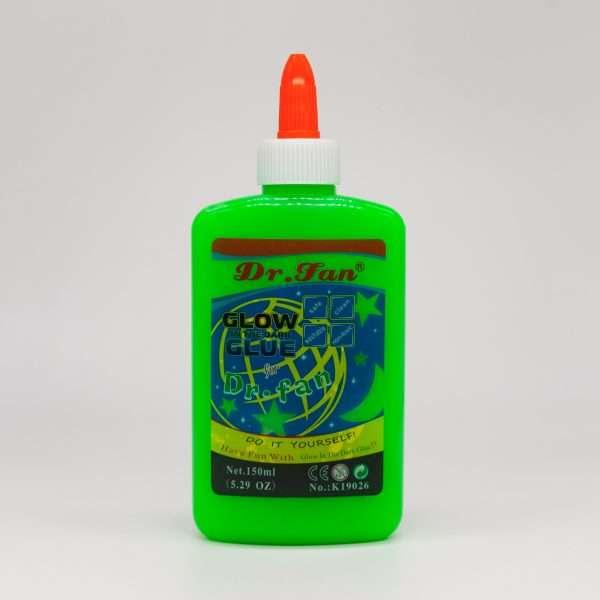 Клей для слаймов Dr Fan светящийся (зеленый), 150 мл