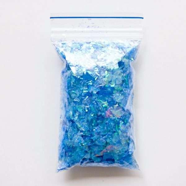 Наполнитель «Битое стекло» в пакете (синий)