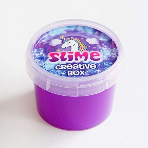 Слайм «Glass» неон (фиолетовый), 100гр